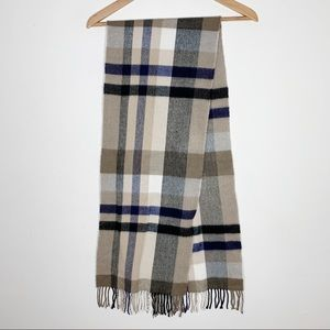 Unbranded • plaid 100% cashmere scarf